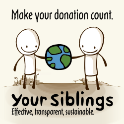 Your Siblings – Make your donation count.